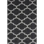 Dywan bawełniany Mersin czarny 75 x 150 cm