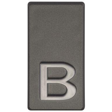 Litera B wys. 5 cm PVC grafitowa