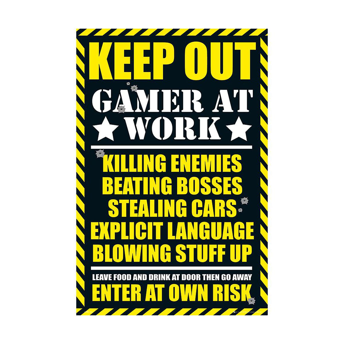 Plakat Gaming Keep Out 61 X 915 Cm