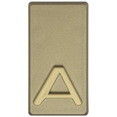 Litera A wys. 5 cm PVC oliwkowa