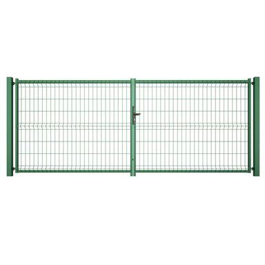 Brama dwuskrzydłowa VERA 400 x 153 cm zielona WIŚNIOWSKI