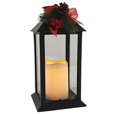 Latarenka LED 32 x 14 cm czarna zdobiona