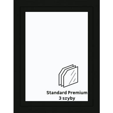 Okno PCV 3-szybowe O15 Antracyt 865 x 1135 mm