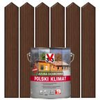 Lazura do drewna POLSKI KLIMAT 5 l Orzech ciemny V33