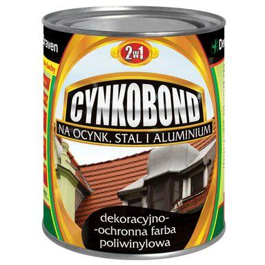 Farba na dach poliwinylowa CYNKOBOND 0.8 l Stalowy DEN BRAVEN