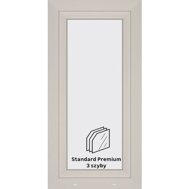 Okno PCV 3-szybowe O11 Białe 565 x 1135 mm