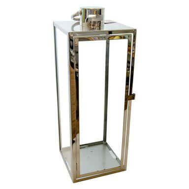 Latarenka na świeczkę BARCELONA wys. 50 cm srebrna