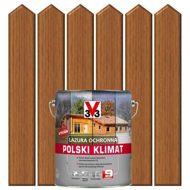 Lazura do drewna POLSKI KLIMAT 5 l  Dąb złocisty V33