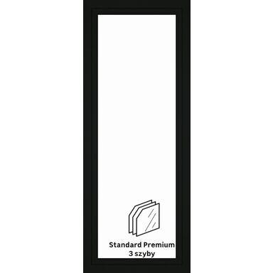Okno PCV 3-szybowe balkonowe OB6 Antracyt 865 x 2195 mm