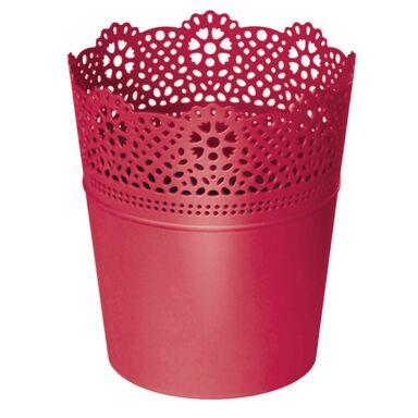 Osłonka plastikowa 16 cm różowa LACE 207C PROSPERPLAST