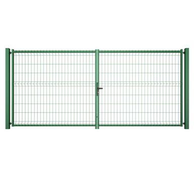 Brama dwuskrzydłowa VERA 400 x 173 cm zielona WIŚNIOWSKI