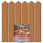 Lazura do drewna POLSKI KLIMAT 0.75 l Dąb jasny V33