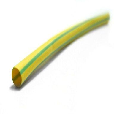 Koszulka termokurczliwa 6.4 / 3.2 1 m żółto - zielona ZENITECH