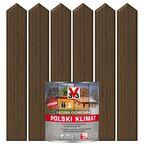 Lazura do drewna POLSKI KLIMAT 0.75 l Dąb ciemny V33