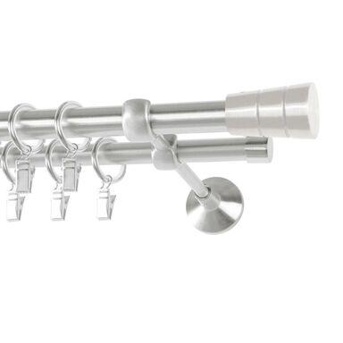 Karnisz SYCYLIA 160 cm podwójny satyna 20/16 mm metalowy