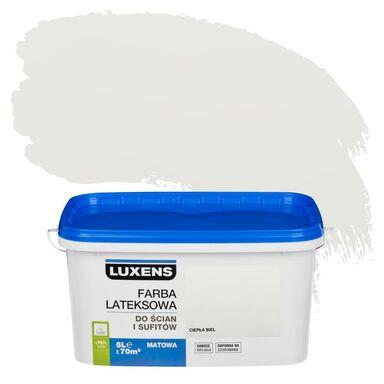 Farba wewnętrzna DO ŚCIAN I SUFITÓW 5 l Ciepła biel LUXENS