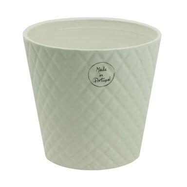 Osłonka ceramiczna 13.5 x 13.5 cm beżowa 985253 KAEMINGK