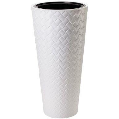 Doniczka plastikowa 40 cm biała SLIM