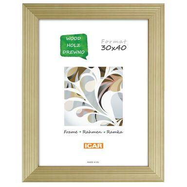 Ramka na zdjęcia DRZK R Z 30 x 40 cm złota drewniana