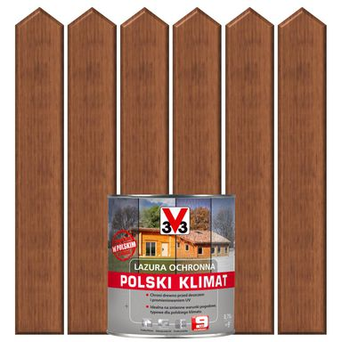 Lazura do drewna POLSKI KLIMAT 0.75 l Mahoń V33