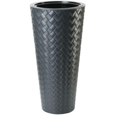 Doniczka plastikowa 40 cm antracytowa SLIM FORM-PLASTIC