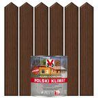 Lazura do drewna POLSKI KLIMAT 0.75 l Orzech ciemny V33