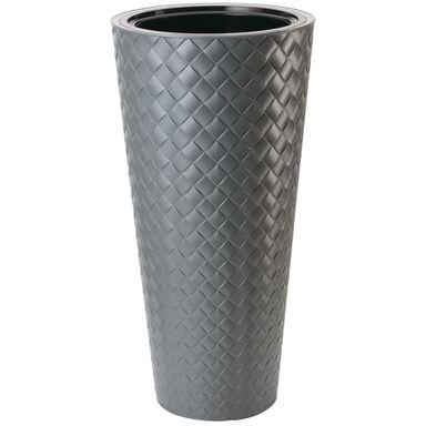 Doniczka plastikowa 40 cm szara SLIM