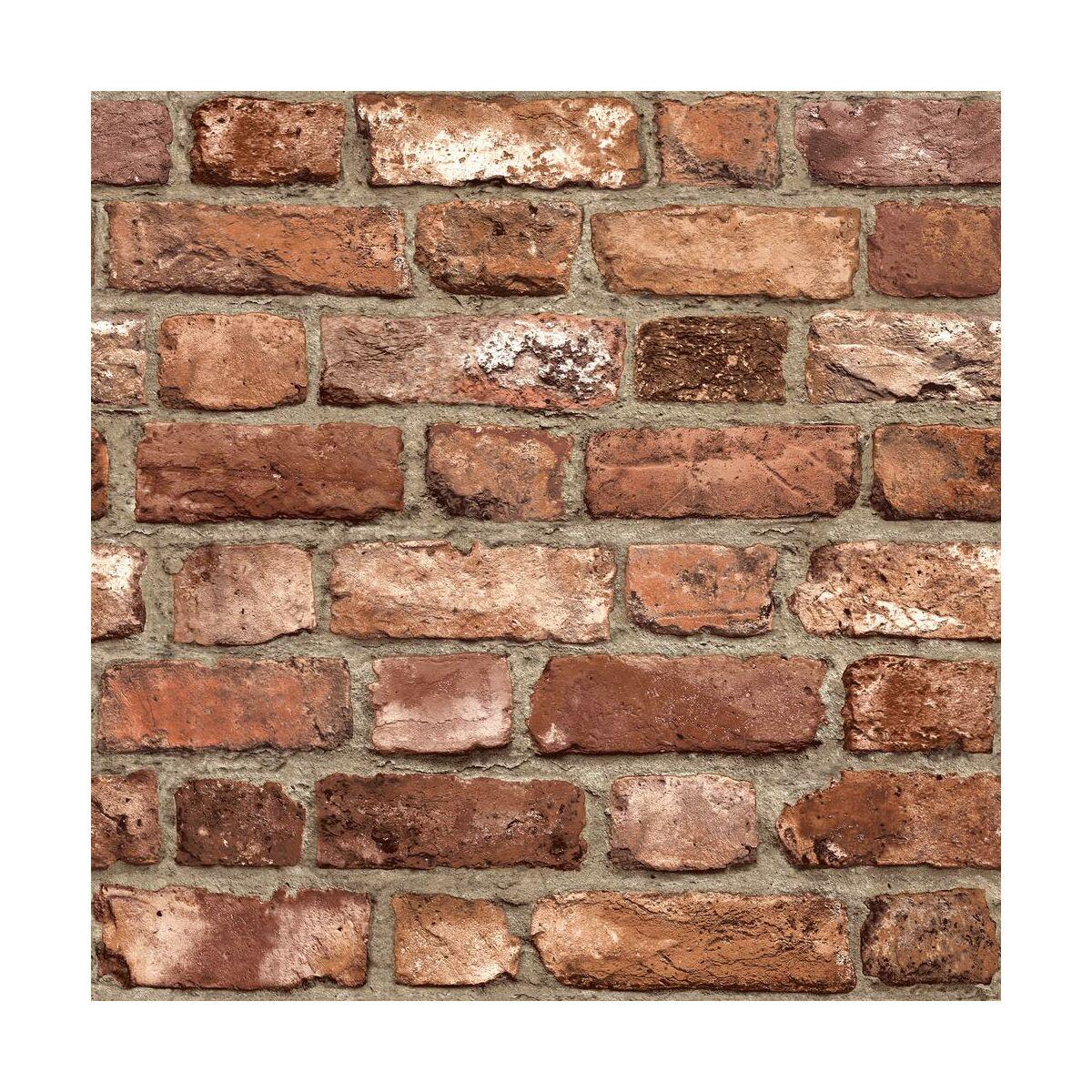 Tapeta Vintage Brick 3d Czerwona Imitacja Cegly Winylowa Na Flizelinie Tapety W Atrakcyjnej Cenie W Sklepach Leroy Merlin