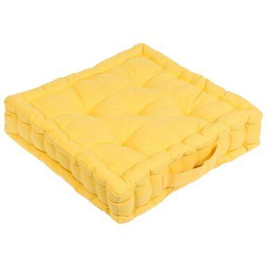 Siedzisko na podłogę ELEMA żółte 40 x 40 x 10 cm INSPIRE