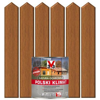 Lazura do drewna POLSKI KLIMAT 0.75 l  Dąb złocisty V33