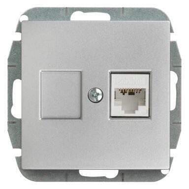 Gniazdo komputerowe ASTORIA  srebrny  ELEKTRO-PLAST