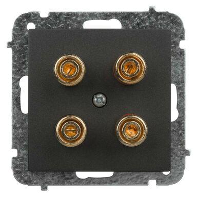 Gniazdo głośnikowe podwójne ASTORIA czarny ELEKTRO-PLAST
