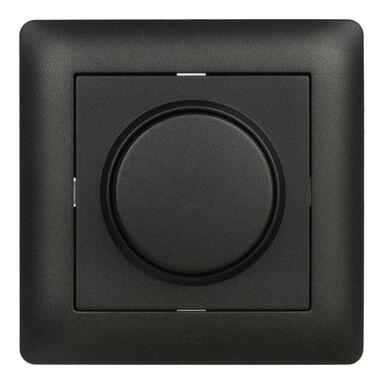 Ściemniacz przyciskowo-obrotowy ASTORIA  Czarny  ELEKTRO-PLAST