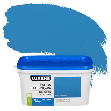 Farba wewnętrzna do ścian i sufitów EMULSJA 5 l Błękit królewski LUXENS