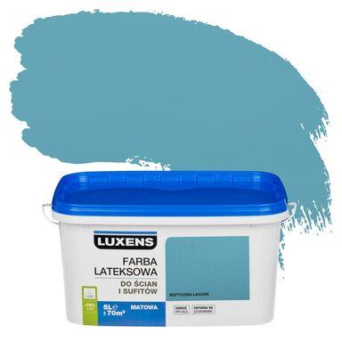 Farba wewnętrzna do ścian i sufitów EMULSJA 5 l Mistyczna laguna LUXENS