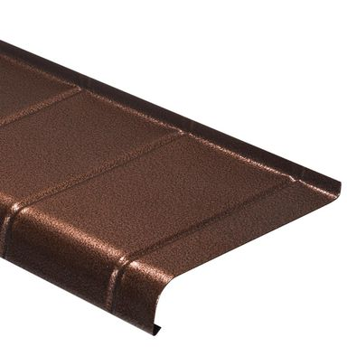 Parapet zewnętrzny stalowy miedź antyczna 120x25 cm Domidor