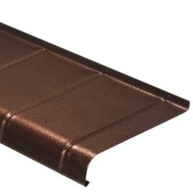 Parapet zewnętrzny STALOWY Miedź antyczna 25 x 120 cm DOMIDOR