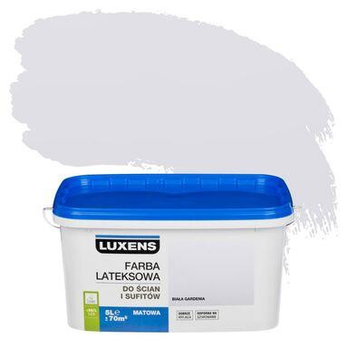 Farba wewnętrzna do ścian i sufitów EMULSJA 5 l Biała gardenia LUXENS