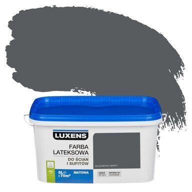 Farba wewnętrzna do ścian i sufitów EMULSJA 5 l Szlachetny grafit LUXENS
