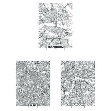 Zestaw 3 plakatów Miasta Europy 30 x 40 cm