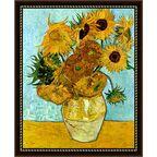 Obraz SŁONECZNIKI VINCENT VAN GOGH 55.2 x 72.2 cm NIELSEN