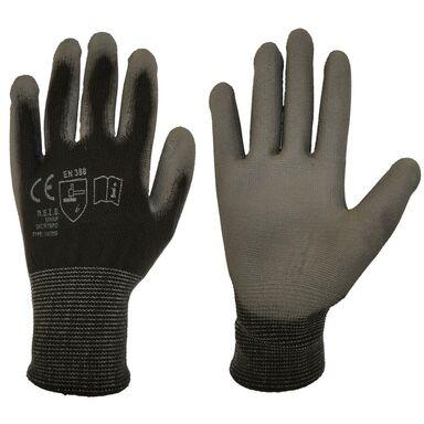 Rękawice ochronne r. S / 6 poliestrowe z powłoką poliuretanową