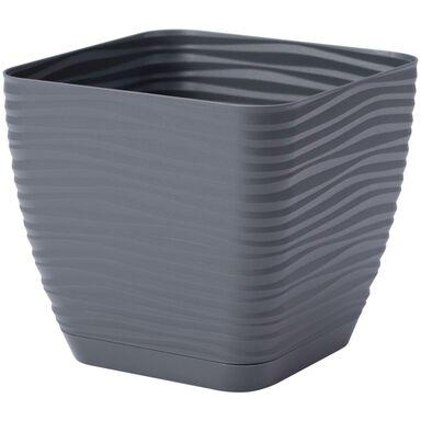 Doniczka plastikowa 16.7 cm antracytowa FALA