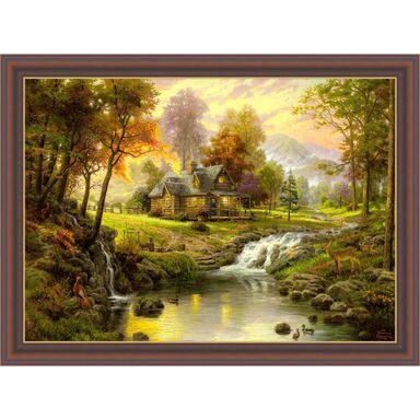 Obraz PEJZAŻ Z SARNAMI THOMAS KINKADE 78.5 x 58.5 cm  NIELSEN
