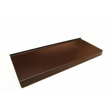 Parapet zewnętrzny stalowy brązowy 200x25x0.5 cm Domidor