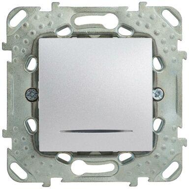 Włącznik pojedynczy z podświetleniem UNICA  aluminium  SCHNEIDER
