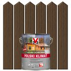 Lazura do drewna POLSKI KLIMAT 5 l  Dąb ciemny V33