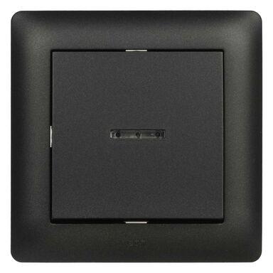 Wyłącznik pojedynczy podświetlany ASTORIA czarny ELEKTRO-PLAST