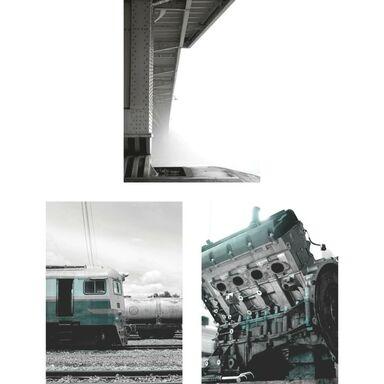Zestaw 3 plakatów INDUSTRIAL PETROL 30 x 40 cm