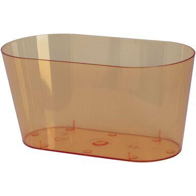 Osłonka na storczyki 26.7 x 13.5 cm plastikowa herbaciana